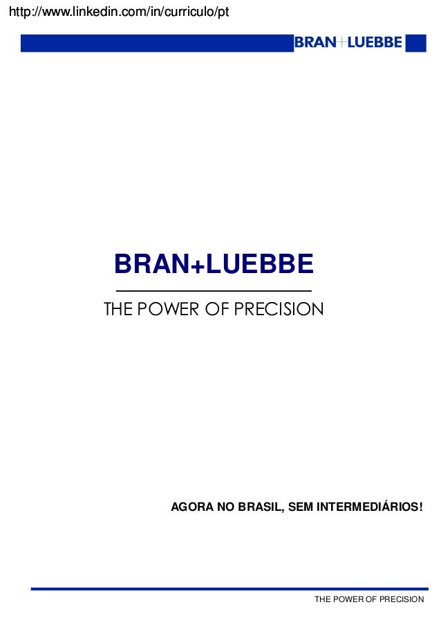 THE POWER OF PRECISION http://www.linkedin.com/in/curriculo/pt BRAN+LUEBBE ____________________________________ THE POWER ...