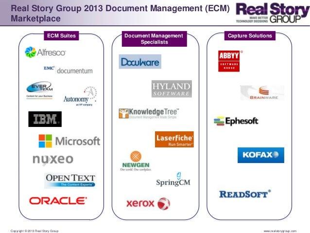 2013 Enterprise Content Management (ECM) / Document Management Logo Landscape