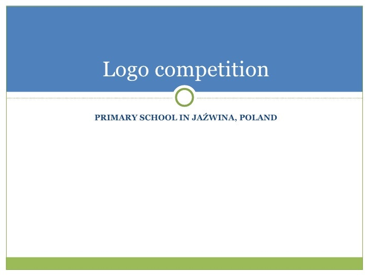 PRIMARY SCHOOL IN JAŹWINA, POLAND Logo competition
