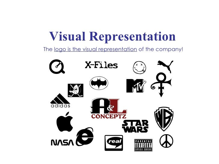 Visual Representation The  logo is the visual representation  of the company!
