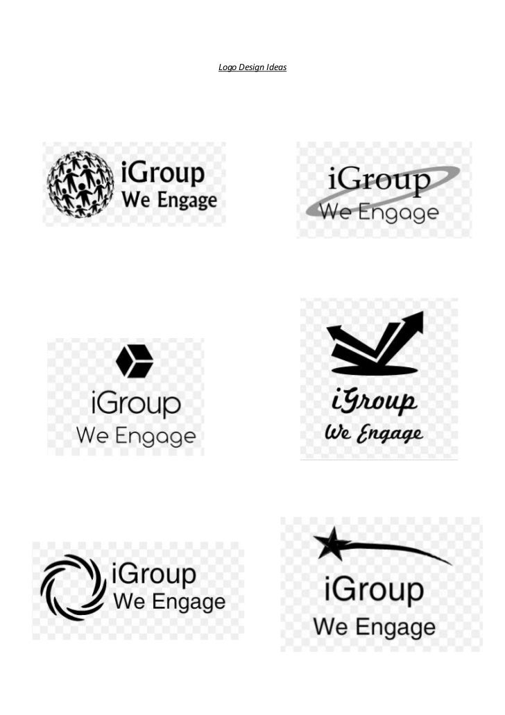 Contact sheet of logo's in black and white