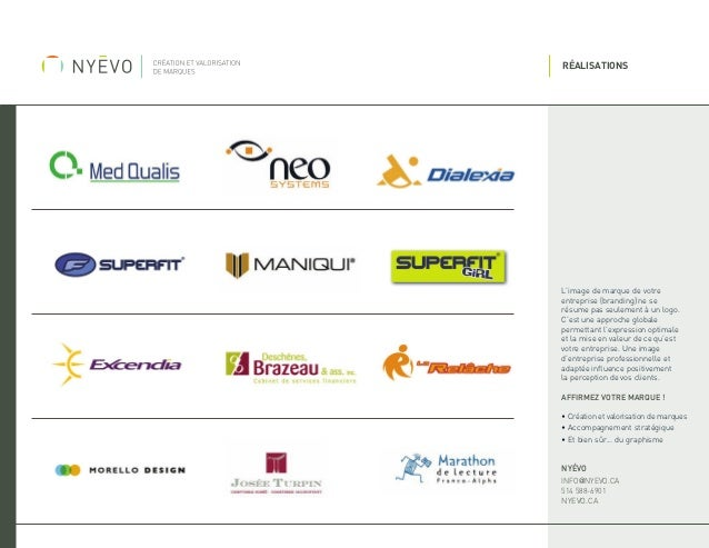 RÉALISATIONS  L'image de marque de votre entreprise (branding) ne se résume pas seulement à un logo. C'est une approche gl...