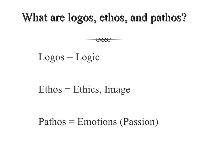 ethos pathos logos rhetorical essay