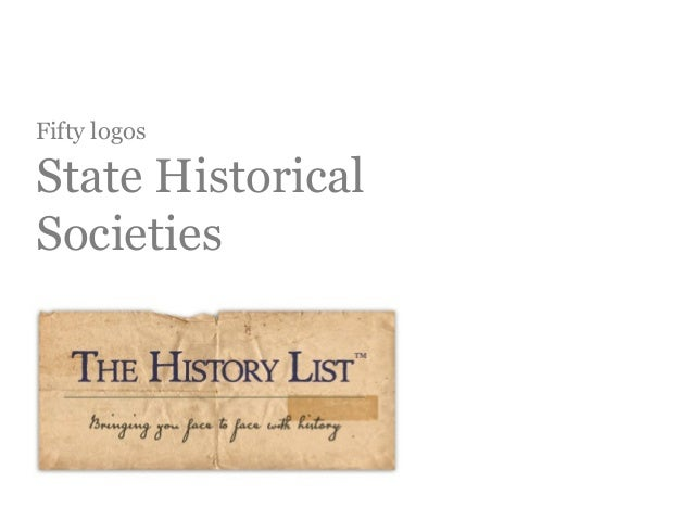 Logos for all 50 state historical societies