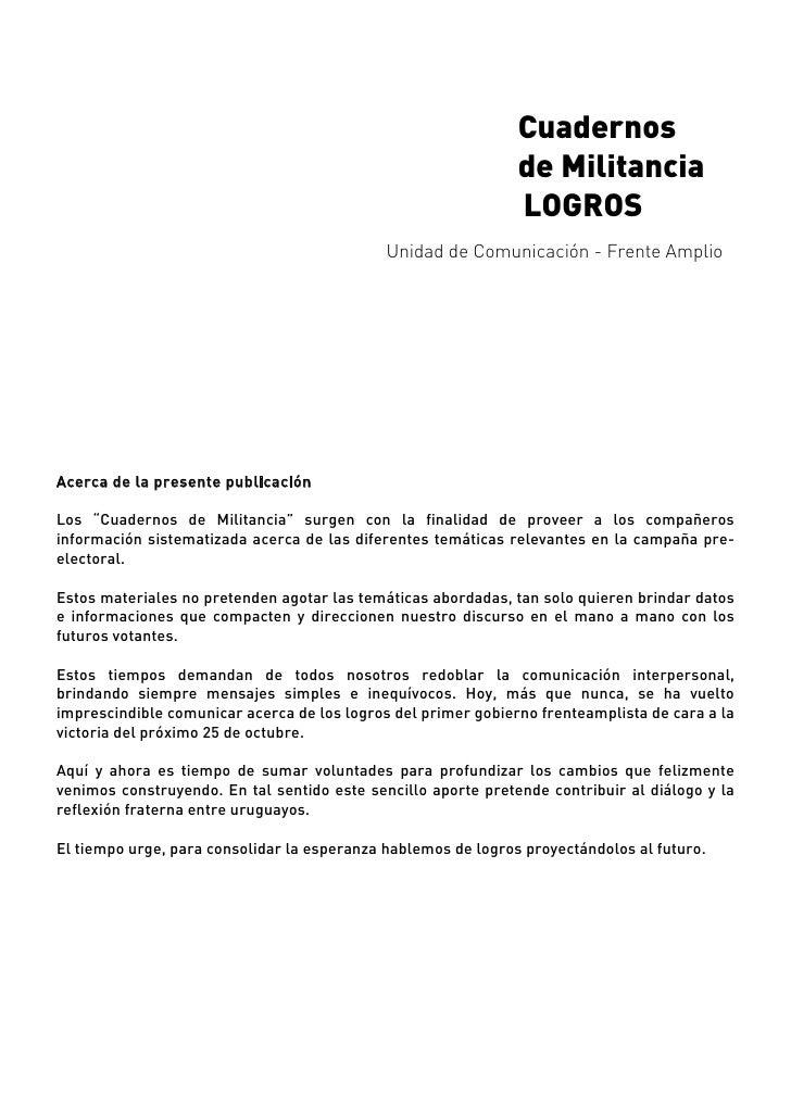 Logros Del Gobierno Frenteamplista (para ampliar pantalla ver barra inferior)