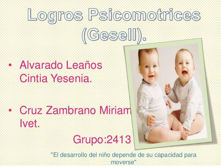 """• Alvarado Leaños  Cintia Yesenia.• Cruz Zambrano Miriam  Ivet.           Grupo:2413       """"El desarrollo del niño depende..."""