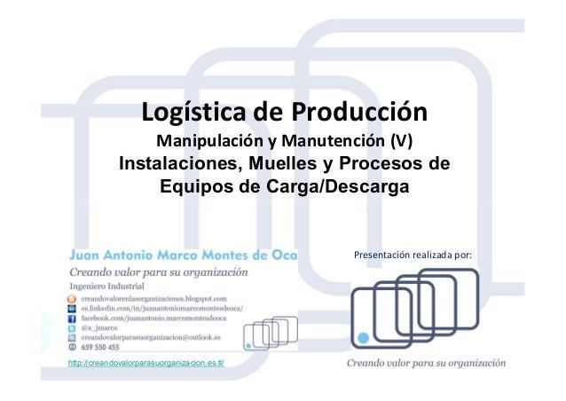 Logística de Producción Manipulación y Manutención (V) Instalaciones, Muelles y Procesos de Equipos de Carga/Descarga http...