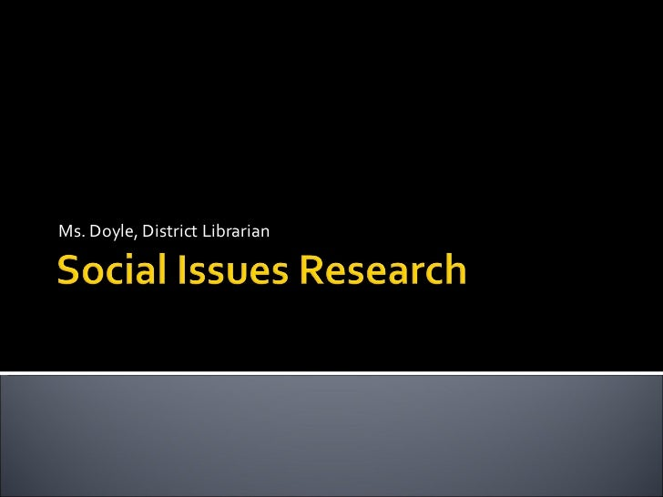 LOHS Social Issues -- catalog and databases