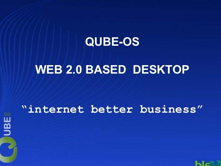 Ignite IBB: Gabriele Loiacono - qube-os un sistema operativo web based per sviluppare business