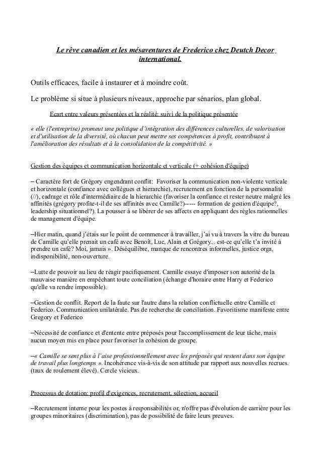 Le rêve canadien et les mésaventures de Frederico chez Deutch Decor international. Outils efficaces, facile à instaurer et...