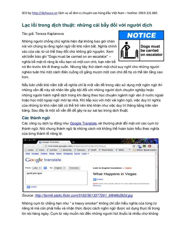 SEO by http://dichvuso.vn Dịch vụ số đơn vị chuyên seo hàng đầu Việt Nam – hotline: 0919.321.885  Lạc lối trong dịch thuật...