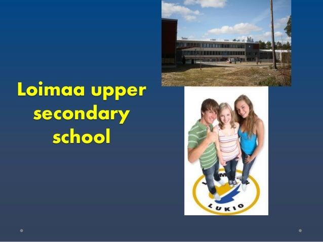 Loimaa upper secondary school