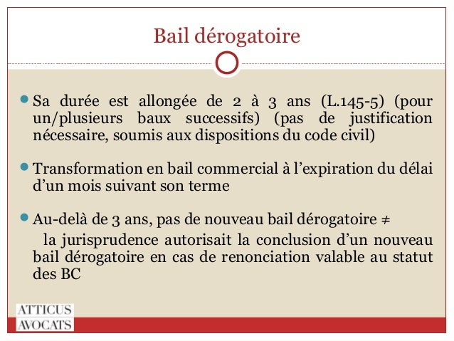 modele bail derogatoire document online. Black Bedroom Furniture Sets. Home Design Ideas
