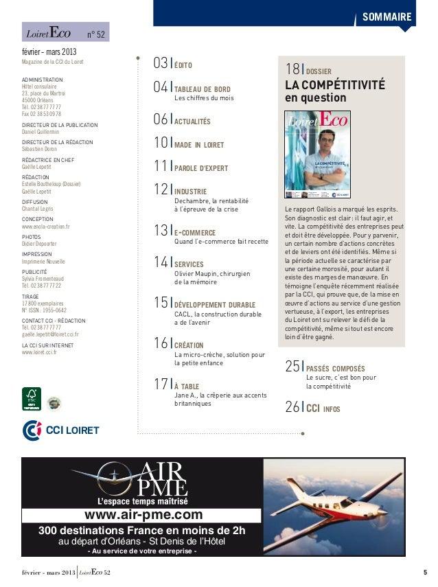 Loiret eco fevrier mars 2013 52 for Chambre de commerce et d industrie d eure et loir