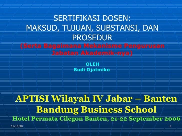 Lokakarya  Banten  Sertifikasi  Dosen