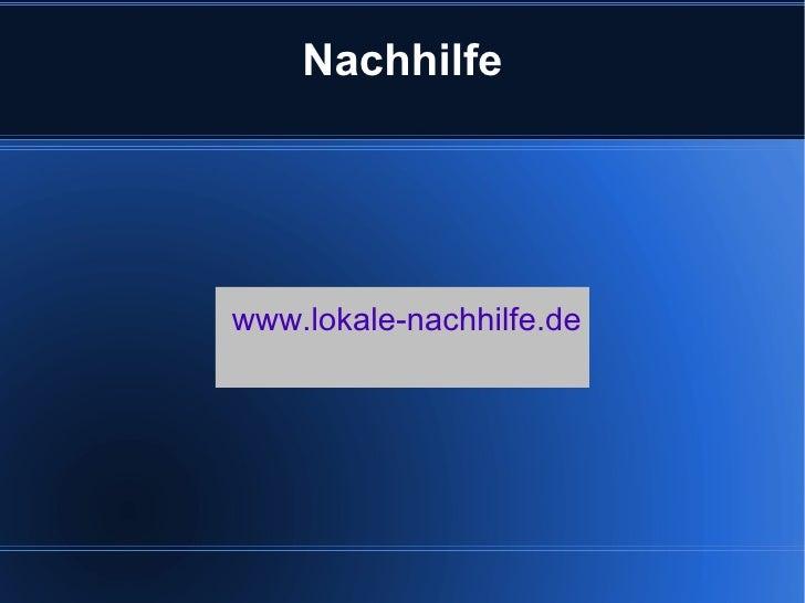 Nachhilfewww.lokale-nachhilfe.de