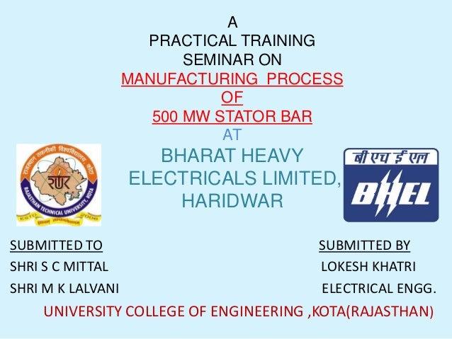 Lokesh Training report from BHEL