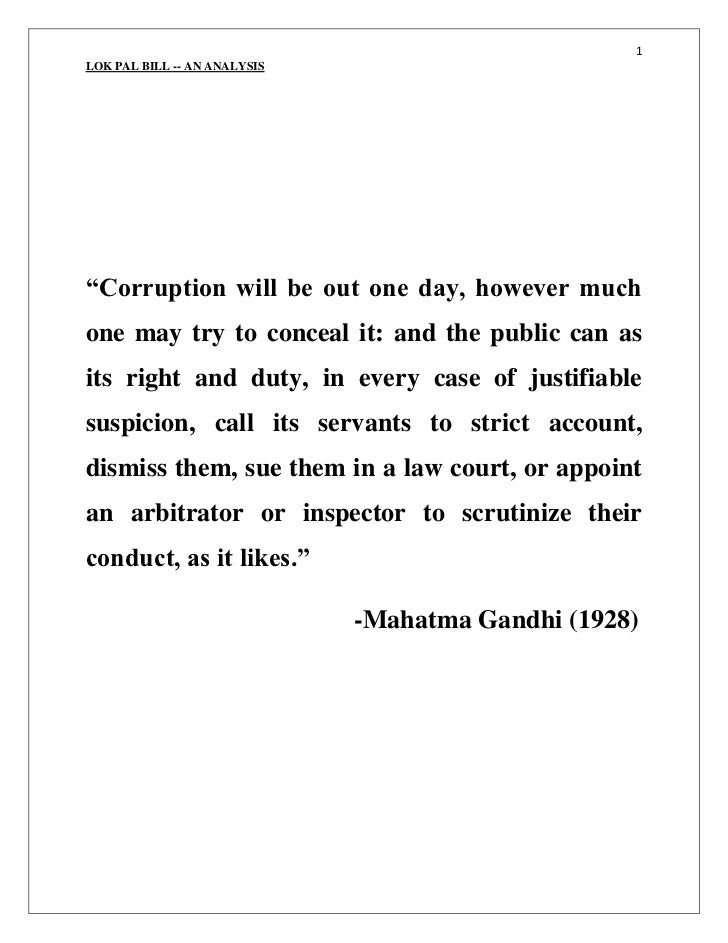 """""""Corruption will be out one day, however much one may try to conceal it: and the public can as its right and duty, in ever..."""