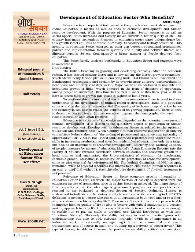 1 | P a g e ISSN 2249-9180 (Online) ISSN 0975-1254 (Print) RNI No.: DELBIL/2010/31292 Bilingual journal of Humanities & So...