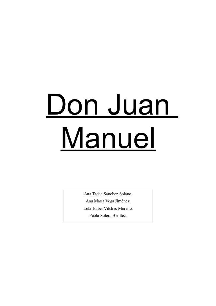 Texto de la Biografía de Don Juan Manuel