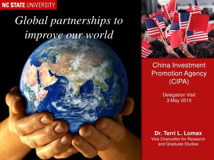 Global partnerships to improve our world<br />China Investment Promotion Agency (CIPA)<br />Delegation Visit<br />3 May 20...