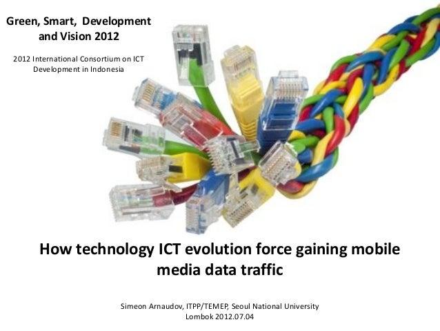 How technology ICT evolution force gaining mobilemedia data trafficSimeon Arnaudov, ITPP/TEMEP, Seoul National UniversityL...