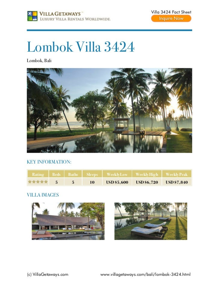 Lombok villa 3424,bali