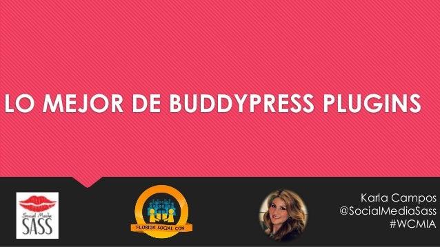Lo Mejor de Buddypress Plugins Karla Campos