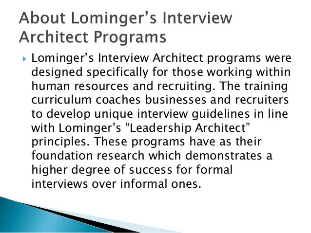 lominger questions
