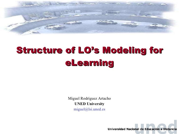 Structure of LO's Modeling for eLearning Miguel Rodr í guez Artacho UNED University [email_address]