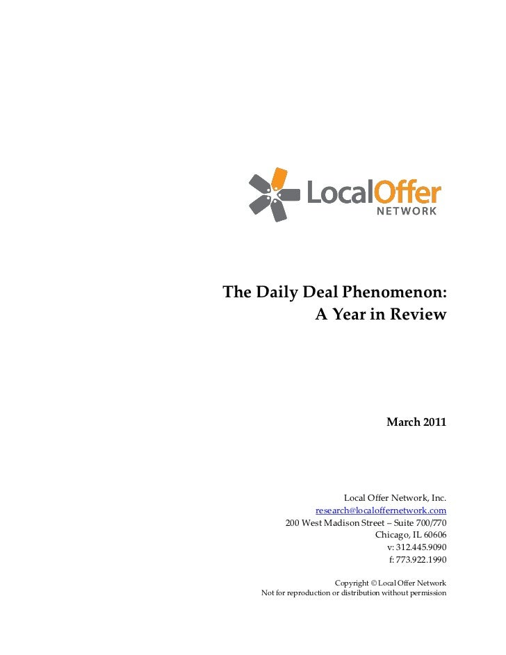 The Daily Deal Phenomenon:           A Year in Review                                         March 2011                  ...