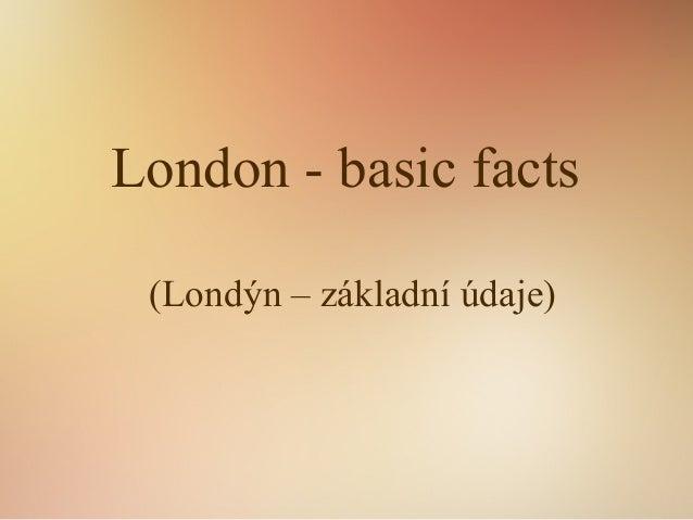 Londýn - základní údaje