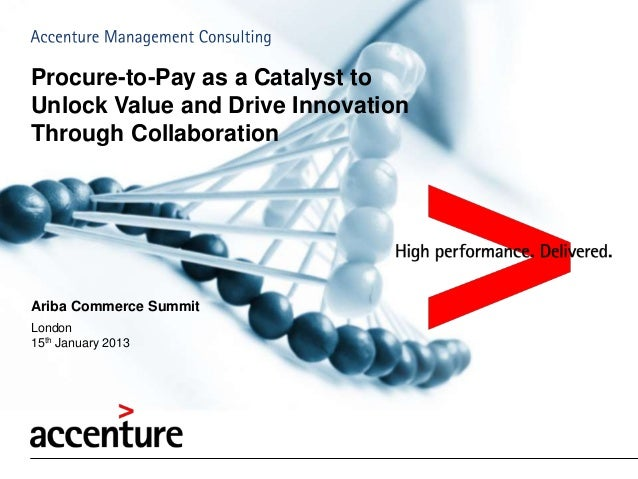 Procure-to-Pay as a Catalyst toUnlock Value and Drive InnovationThrough CollaborationAriba Commerce SummitLondon15th Janua...