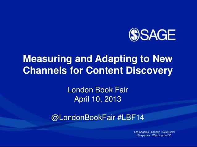 London Book Fair - Managing and adapting to content delivery  -  April 2014