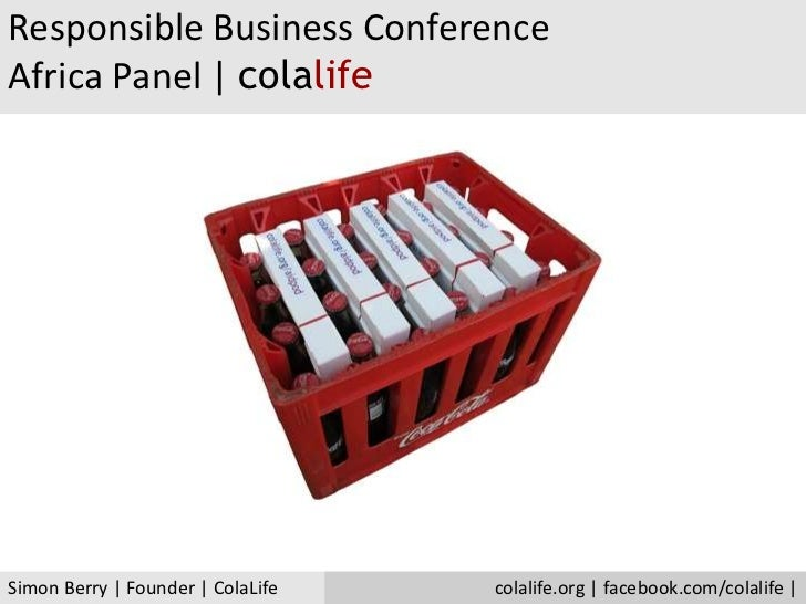 ColaLife   Responsible Business   ColaLife