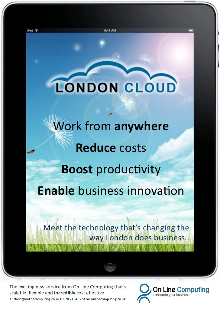 Work from anywhere                                        Reduce costs                                Boost productivity  ...