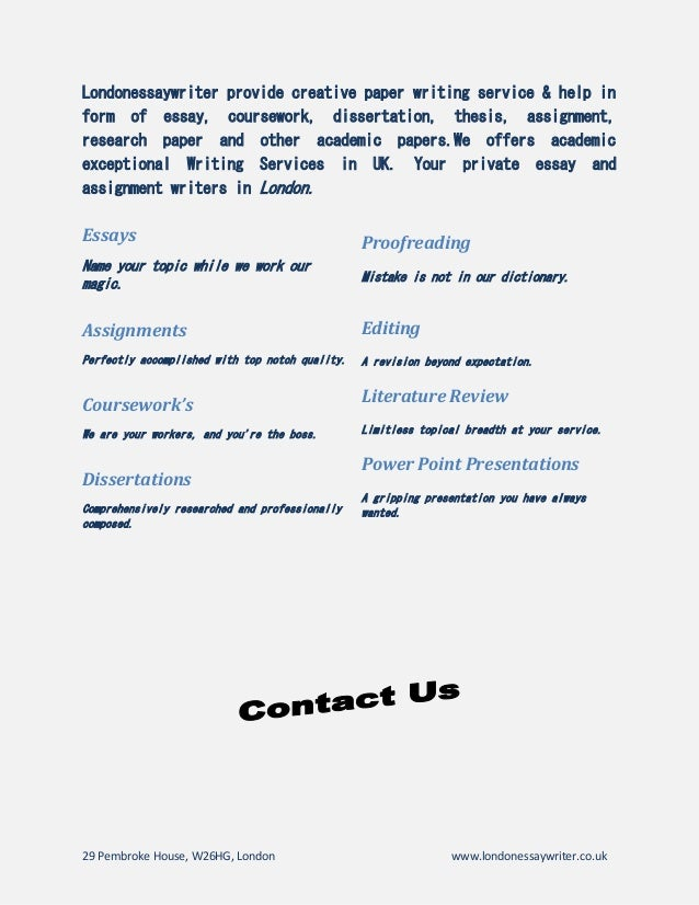 Cheap essays writing services
