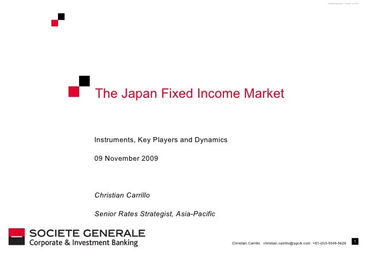 The Japan Fixed Income Market Instruments, Key Players and Dynamics 09 November 2009 Christian Carrillo Senior Rates Strat...