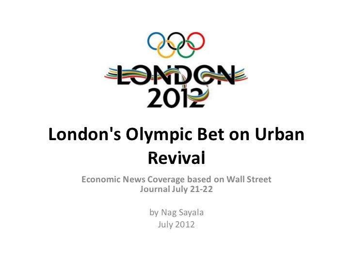 London's Olympic bet