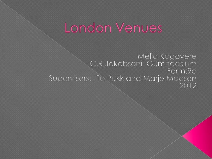 London venues (2)