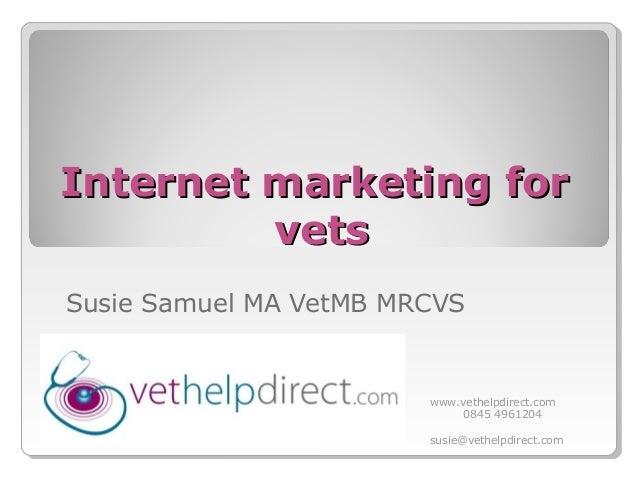 London vet show - Internet Marketing for Vets