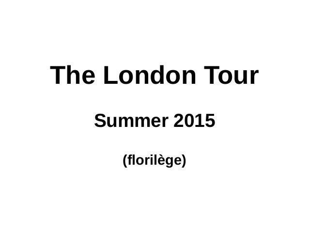 The London Tour Summer 2015 (florilège)
