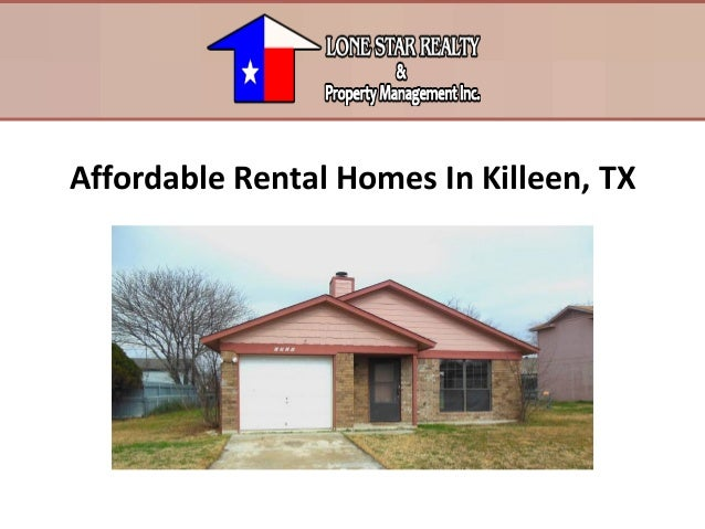 Affordable rental homes in killeen tx for Home builders in killeen texas
