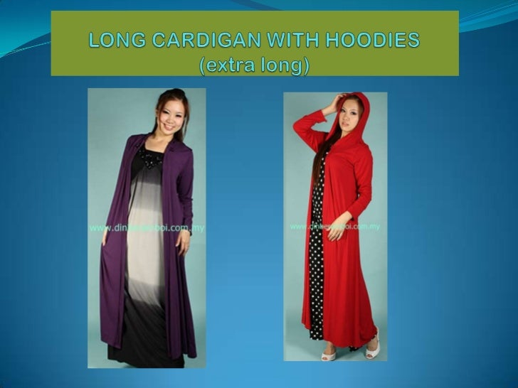Long cardigan with hoodies (extra long)