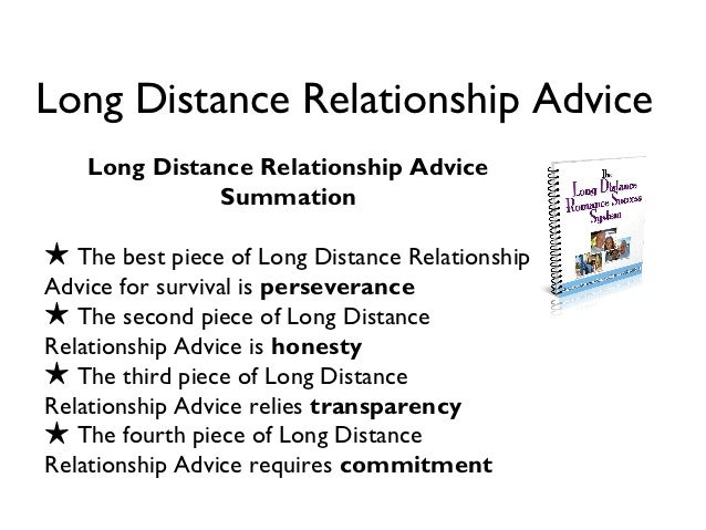 Dating long distance relationship advice