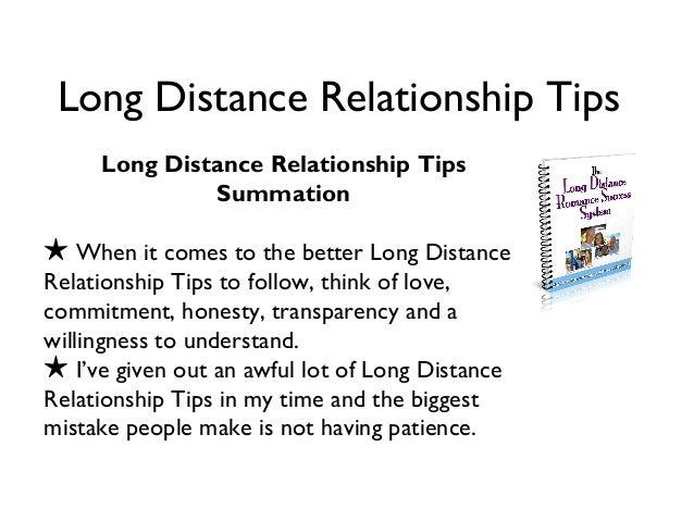tips long distance