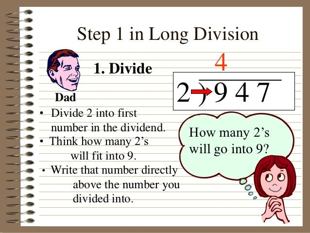 Worksheets How To Divide Step By Step long division step