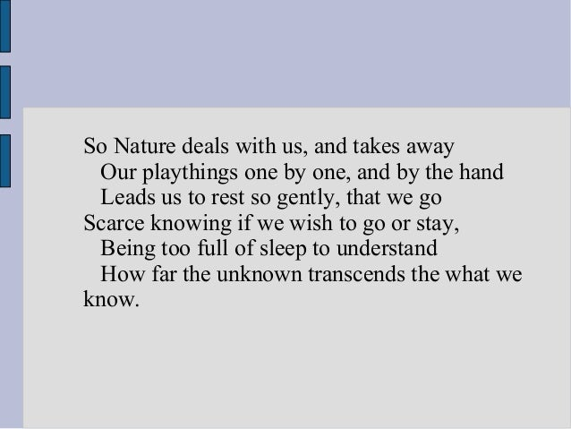 nature by henry wadsworth longfellow Paul revere's ride henry wadsworth longfellow  henry wadsworth longfellow was one of the most popular american poets of the 19th century and a founder of the.