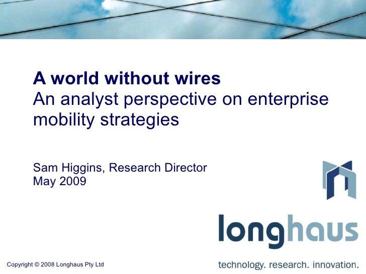 Software Queensland Wireless Seminar