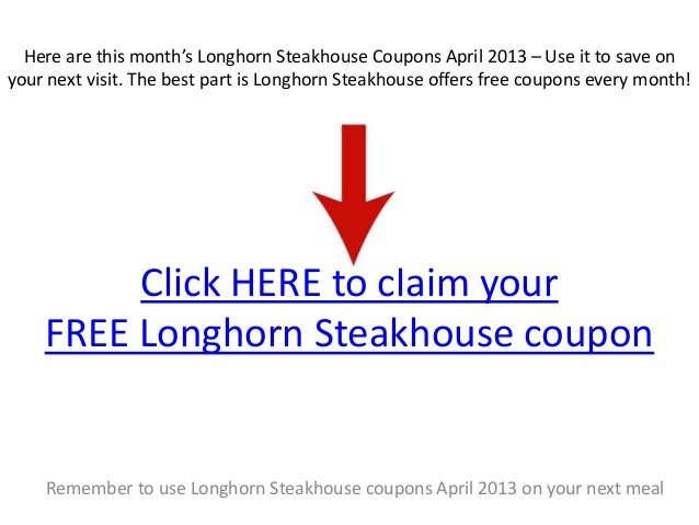 photograph about Longhorn Steakhouse Printable Coupons referred to as Longhorn steakhouse discount coupons : Charleston coupon codes